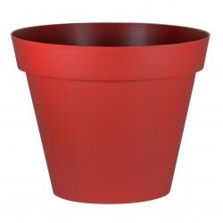 Pot Toscane Ø80 cm rond Rouge Rubis