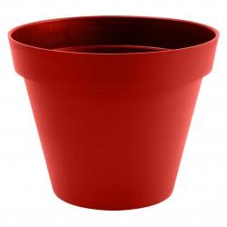 Pot Toscane Ø60 cm rond Rouge Rubis