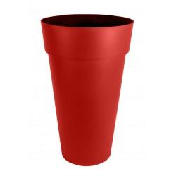 Pot Vase TOSCANE Haut Rond XXL - Ø48 cm - h.80 cm - 90L - Rouge Rubis