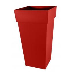 Pot TOSCANE Haut Carré XXL Rouge Rubis
