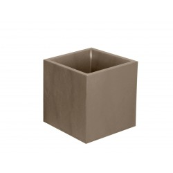 """Bac carré """"VOLCANIA"""" Taupe 40 cm et 31 L"""