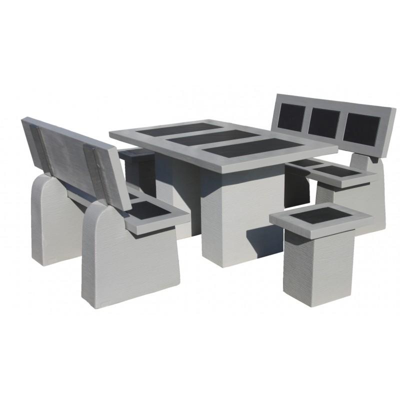 salon de jardin en pierre mini status naturel cemento. Black Bedroom Furniture Sets. Home Design Ideas
