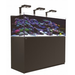 Aquarium Red Sea Reefer Deluxe XL 525 Noir (3 Hydra 26 HD + 3 potences + Meuble Inclus)