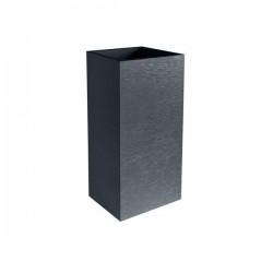 """Pot carré Haut """"GRAPHIT"""" 40 cm et 31 L Gris Anthracite"""