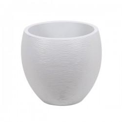 """Pot EGG """"GRAPHIT"""" Ø50 cm - h. 45 cm - 46 L - Blanc cérusé"""