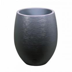 """Pot EGG """"GRAPHIT"""" Ø50 cm - h. 60 cm - 53 L - Gris Anthracite"""