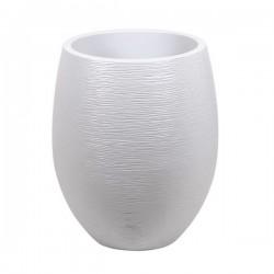 """Pot EGG """"GRAPHIT"""" Ø50 cm - h. 60 cm - 53 L - Blanc cérusé"""