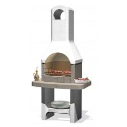 Barbecue en béton Lucerna 88 x 58 x 179 cm