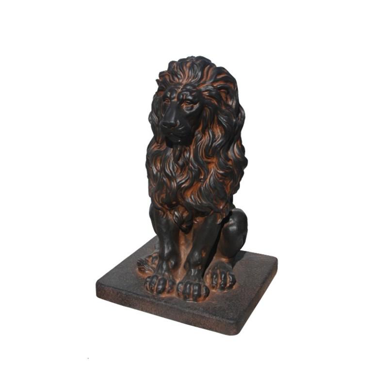 Lion en statue de pierre h.55 cm Oxido