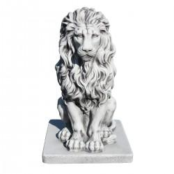 Lion en statue de pierre  h.55 cm Gris