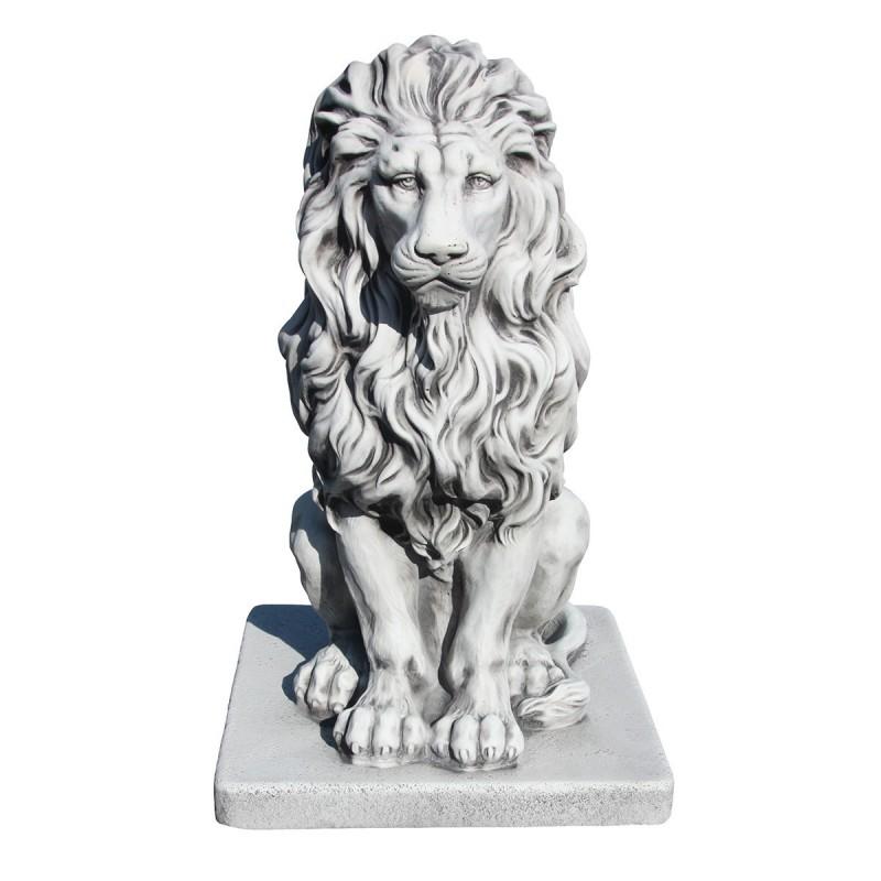 Lion en statue de pierre h.55 cm Cuivre