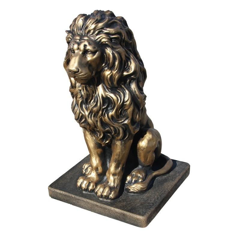 Lion en statue de pierre h.55 cm Or