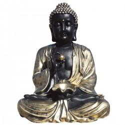 Statue de pierre Bouddha h.80 cm Or