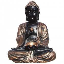 Statue de pierre Bouddha h.80 cm Cuivre