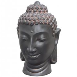 Statue de pierre Tête de Bouddha Oxido h.115 cm