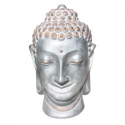 Statue de pierre Tête de Bouddha h.115 cm Maquillage