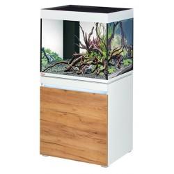 Aquarium Eheim Incpiria 230 Blanc + façade bois naturel