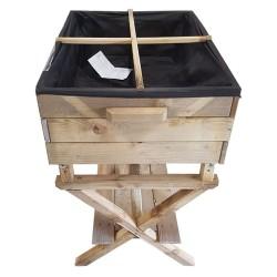 Carré potager en bois traité (côté)