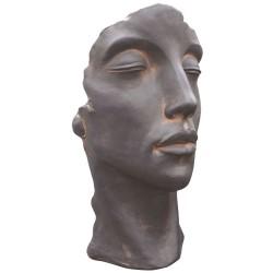 Visage en pierre reconstituée - TAHINO - Couleur chrome ou oxido (1)
