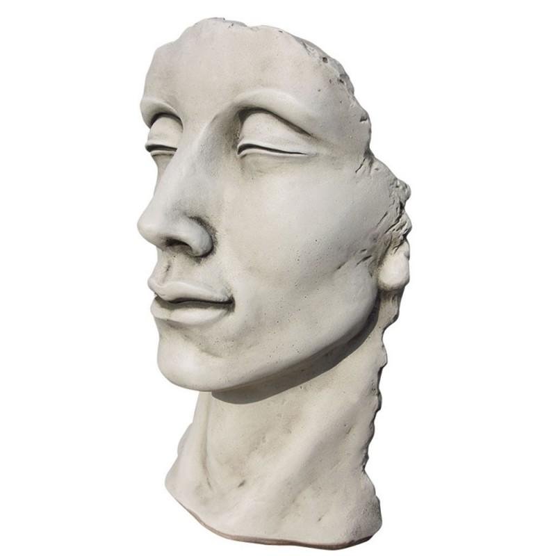 Visage en pierre reconstituée - HINONGA - ton pierre gris naturel (1)