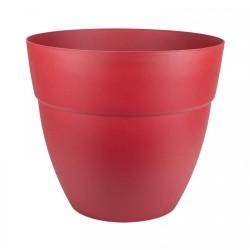 Pot Cancun Ø 70 cm rond - PROMOFLEUR - Rouge rubis