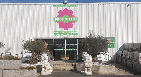 Entrée magasin Promofleur Montataire