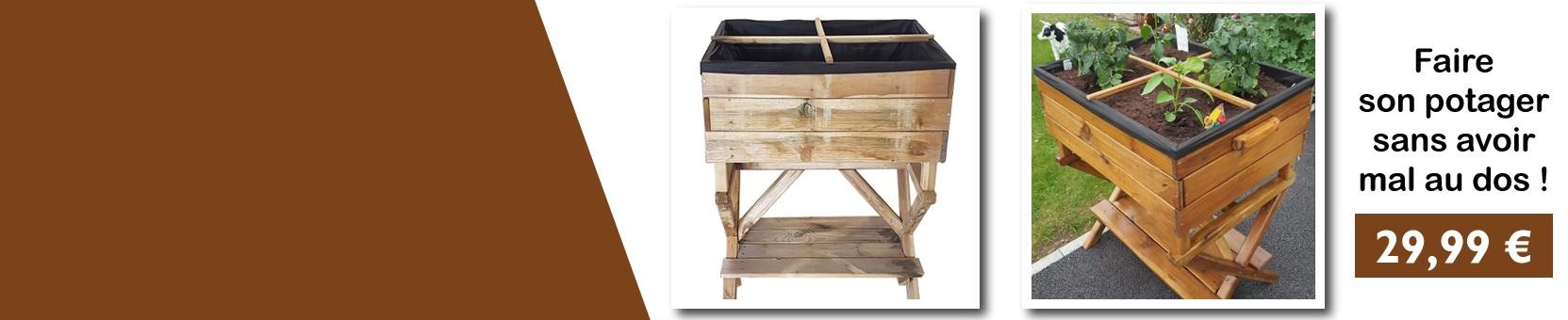 Carré potager en bois